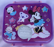 Disney Minnie Mouse Sectional Food Storage Container With 2 In 1 Fork Spoon New