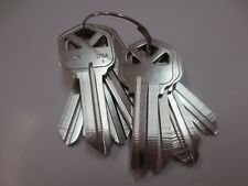 Lot of 10 Pcs  KW1 NICKEL PLATED Key Blank / Made in USA by Ilco