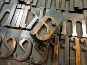 Printing Letterpress Printer Block Antique Poster Clarendon Wood Alphabet