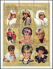 Mongolia 1997 Diana Princess Of Wales MNH Sheet #D2392