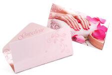10 Geschenk Gutschein Karten #2 für Nagelstudio Nailart Kosmetik Fußpflege usw.