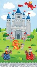 LITTLE KNIGHTS' QUEST KNIGHTS ARMOUR CAVALRY DRAGONS CASTLE FABRIC PANEL