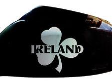 IRLANDE IRISH SHAMROCK Autocollant Voiture Style Miroir Aile d'autocollants (lot de 2), chrome
