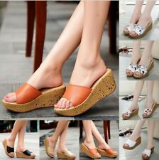 New Women Summer Beach Sandals Contracted Wedge Platform Peep Toe Shoes Sandals