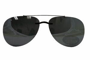 Silhouette Sunglasses Clip-On 5090 A1 Shape 0101 Polarized Gray Aviator