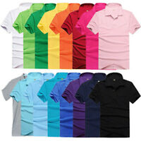 Stylish Men's Summer Short Sleeve Casual Solid Polo T-shirt Slim Fit Tops Eyeful