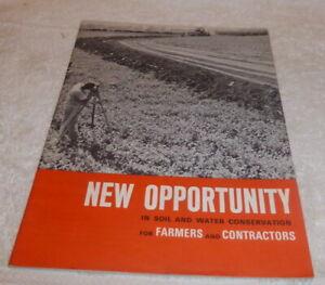 Vintage 1965 original brochure for Allis-Chalmers Farmers & Contractors
