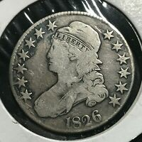 1826 BUST SILVER HALF  DOLLAR NICE TYPE COIN