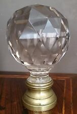 Fine French Newel Post Finial or Boule d'escalier Massive Crystal Bacarat (?)