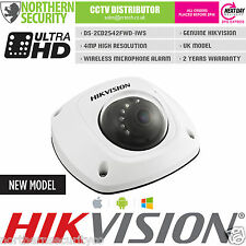 HIKVISION 2.8mm DS-2CD2542FWD-IWS 4MP 1080P Wifi Mic Mini CCTV IP Network Camera