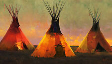 R Tom Gilleon ETERNAL TRIANGLE MuseumEdition™ giclee canvas, Tipi, Tee Pee #2/25