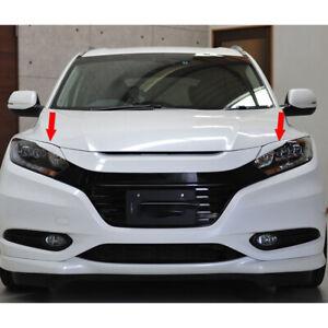 Unpainted For Honda HRV HR-V 16-19 Hatchback Front Headlight Eyebrows Eyelids