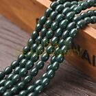 New Arrival 30pcs 9X7mm Teardrop Shape Loose Spacer Glass Beads Deep Green