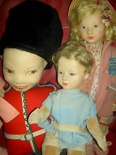 "Rare 1938, 32"" Norah WELLINGS l'bd. English Palace Queen's Guard doll K 44  XLNT"