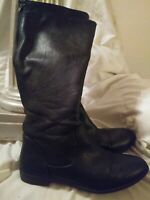 American Eagle Brand Women's Size 11 Black Tall Boots Back Zipper