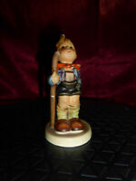 Vintage Goebel Hummel Figurine - Little Hiker - Damage repaired - FREE UK P&P