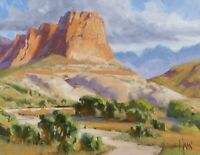 """TOM HAAS (b.1952) 'Rustler's Roost' oil 11x14"""" New Mexico Western scenic realism"""