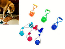 Dog Molar Chew Toy Pet Suction Cup Bite Ball Push Tooth Cleaning Health Tug Rope