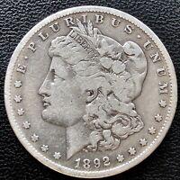 USA 1892 S Morgan Dollar San Francisco Silber Selten RARE #15224