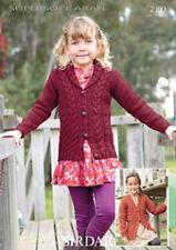 Sirdar Childrens Knitting Pattern - 2393 - Cardigans - Supersoft Aran