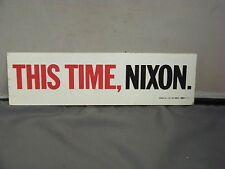 This Time Nixon Bumber Sticker Original Election Memorabilia 1960 Union Bug