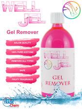 Well Jel Nail Polish Gel Remover UV LED Acetone 1L Manicure