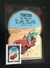 Carte postale Timbre Tintin couverture album 2007 ETAT NEUF
