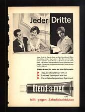 3w64/vieja publicitarias-aprox. 1960-crema dental Blend-A-MED-auxiliares contra zahnfleischbl