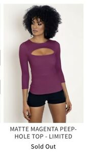 Blackmilk clothing Matte Magenta Peephole Top  Limited SOLD OUT Size XXS
