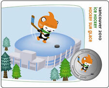 50 Cent Canada Vancouver 2010 Olympic Mascot Miga Coin Ice Hockey 1/12