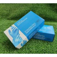 Blue Nitrile Disposable Medical Examination Gloves Large Powder-Free x 100