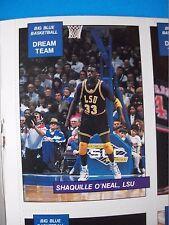 1990-91 Shaquille O'Neal HOF 1st Card LSU Big Blue Basketball w/18-card Set!