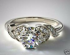 1.75CT BRILLIANT CUT LEAF SHAPE SOLITAIRE ENGAGEMENT RING 14KT SOLID WHITE GOLD