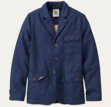 $198 Timberland Men's MT. Hayes Wool Blend Dark Navy Travel Jacket #8238J S:M