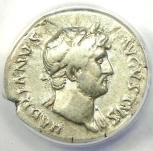 Roman Hadrian AR Denarius Silver Coin 124-128 AD - Certified ANACS VF20