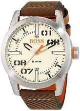 Hugo Boss Original 1513418 Men's Oslo Brown Leather Watch 44 MM