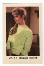 1960s Swedish Film Star Card CA 98 French Sex Symbol Brigitte Bardot nr mint