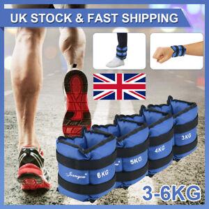 Ankle Weights Adjust Leg Wrist Strap Running Training Fitness Gym Straps 3-6KG