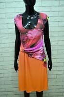 ROBERTO CAVALLI Donna Vestito Tubino Slim Corto Taglia 48 Abito Dress Women's