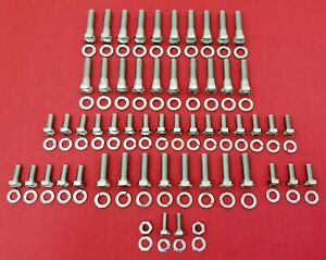 1939-1948 FORD ENGINE BOLTS KIT 239 V8 FLATHEAD STAINLESS STEEL HEX SCREW SET