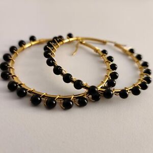 125 Earrings Bronze Gold Plated Onix 28