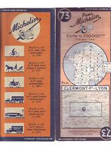 carte routiere 73 bon etat correct - clermont ferrand Lyon