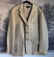 J. Crew Tan Beige 100% Linen 3 Button Blazer Men's Size 46