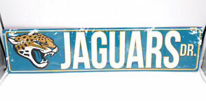 Jacksonville Jaguars Licensed NFL Distressed Street Aluminum Wall Man Cave Sign