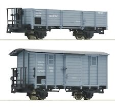 More details for roco 34530, ho-e , 2 piece set of narrow gauge wagons rukb in grey