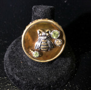Echo Of The Dreamer Multi Gemstone Bumble Bee Ring Size 6 3/4