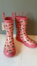 New Blazin Roxx Youth Size Medium Size 1-2 Pink Rain Boots with Horse Design