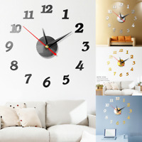 2019 New Clock Watch Wall Clocks 3D DIY Wall Clock Acrylic Mirror Stickers Home