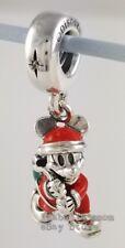 DISNEY Genuine PANDORA Red SANTA MICKEY & GIFT BAG Dangle Charm 797501ENMX NEW!