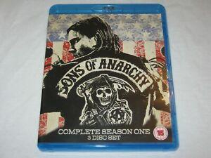 Sons Of Anarchy - Complete Season 1 - 3 Disc Set - VGC - Region A, B - Blu Ray